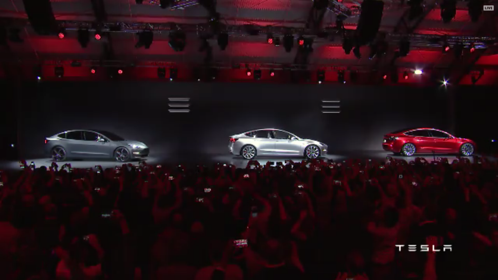 Tesla Model 3 x 3